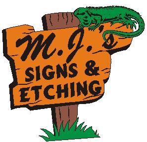MJ's Signs & Etchings Logo